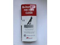 Briton 1110 Overhead Fire Door Closer Silver, SIze 2-4