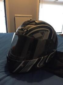 Job lot: Helmet, gloves and back brace