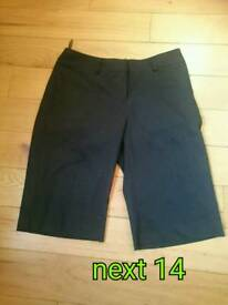 Three quarters trousers size 14 Next