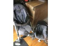 Maxi cosi pushchair and car seat