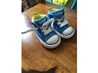 High top blue yellow converse baby size 3 like New