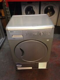 BEKO 7KG CONDENSER SENSOR DRYER SILVER RECONDITIONED