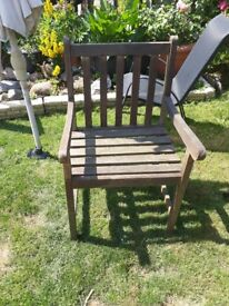 2 wooden garden chairs £12 for the both South Brent near Plymouth Devon