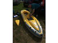 Wave line inflatable kayak