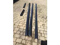 Black pvc gutters