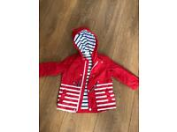 Red waterproof jacket 9-12 months