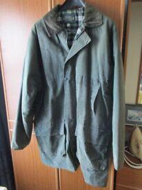wax jacket.