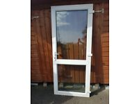 PVC door with clear glass