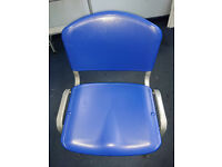 BLUE PLASTIC CHAIRS IDEAL FOR CANTEEN OR BREAK ROOM