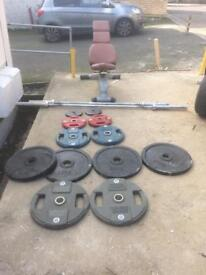 weigh equipment and bench