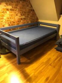 FLEXA 3ft blue sofa/day bed