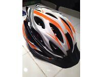 Unisex Adult Bike Helmet Orange/White/Black