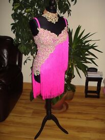 Latin dance dress size 8-10, high-quality materials