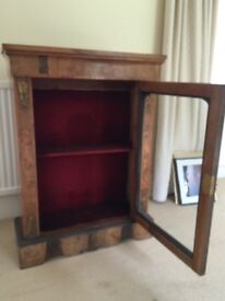 Glass fronted cabinet probably victorian