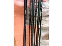 3 x Shakespeare carp rods 11ft 2.5lb TC