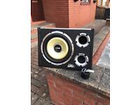 "Vibe cbr evo blackair 12"" sub and stereo - very loud"