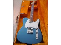 64 Vintage reissue Fender Telecaster in lake placid blue.