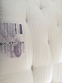 Good condition king size divan bed with no turn mattress