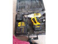 24 dewalt drill , 2x batterys