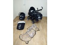 BabyStyle TS2 3-in-1 travel system - pushchair, pram and car seat