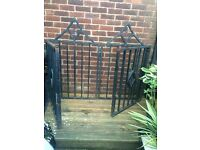 Bi fold heavy driveway gates and matching small gate