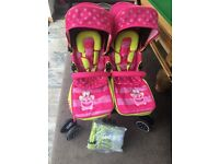 Double stroller pram twin pushchair new condition