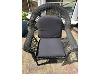 Ikea Black rattan weather resistant garden chair