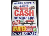Scrap cars wanted 07927 346247 spares or repairs non runners damaged