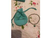 Tiffany Mini Heart Tag bracelet - blue