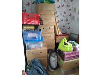 Car boot job lot, bundle items, household, clothing, books, furnishings, games, decorations