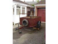 6x4 Car Trailer. New wheel bearings. Light board. Jockey wheel. £280 ono.