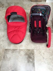 Mamas and Papas Red Sola Pram and Pushchair
