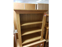 knights bridge solid wood small bookcase oak