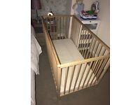 Cot for sale in very good condition with mattress.
