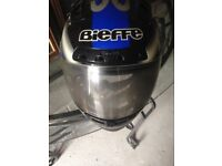 CRASH HELMET BIEFFE BRAND , UNMARKED IN & OUT . REDUCED FOR QUICK SALE.