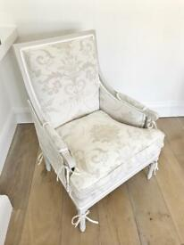 Vintage Laura Ashley armchair French shabby chic