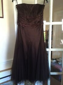 Monsoon Marcie Dress Chocolate Brown
