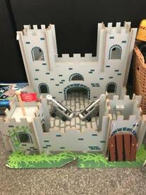 Castle play set. Wood