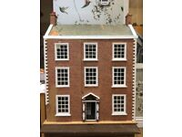 Beautiful Victorian dolls house with furniture and dolls