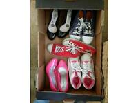 5 pairs ladies size 4 shoes