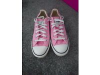 Pink Converse All Star Low Tops Size 4.5