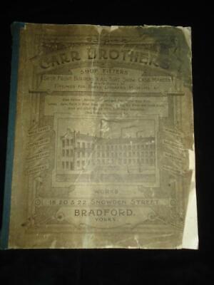 1900s Carr Hermanos Tienda Instaladores Bradford Antiguo Comercio Catálogo Raro segunda mano  Embacar hacia Spain