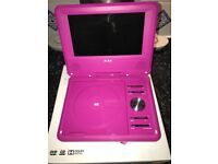 Pink portable DVD player like new !