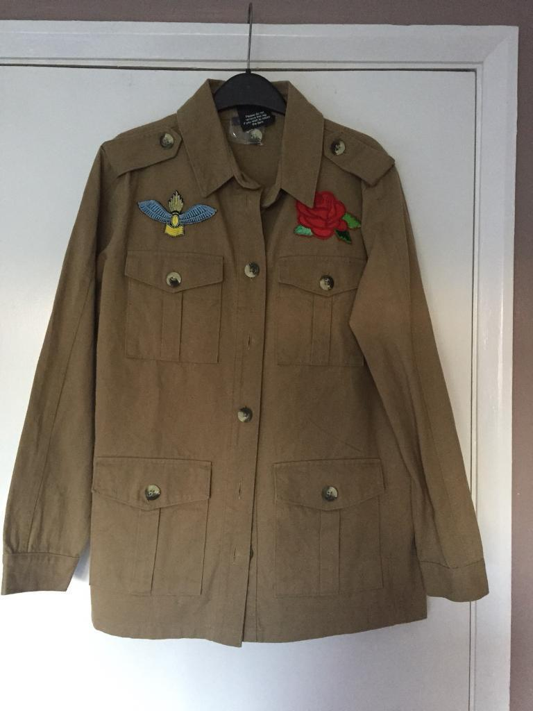 Green army combat jacket