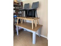 Dining table Benches and Chairs