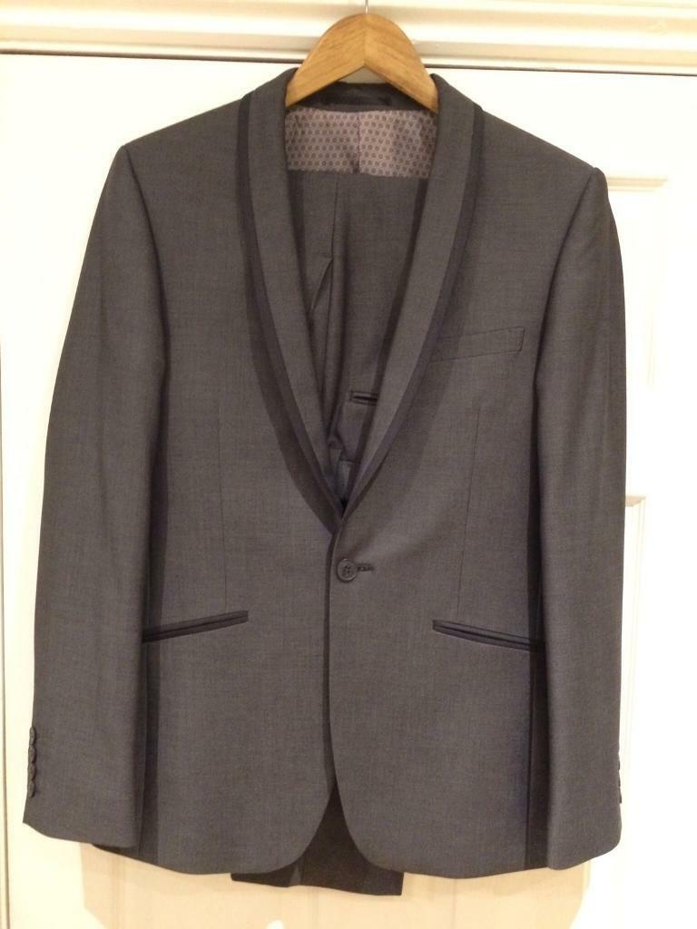Prom Suit Red Herring Mid Grey Pindot Slim Fit Suit | in Milford ...
