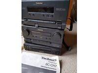 Technics hi-fi set with cd player, cassette player and radio