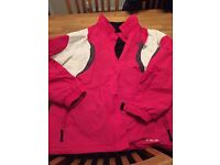 Ladies pink and white ski jacket, size 20, worn once