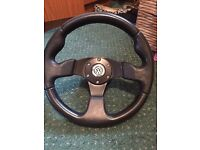 Vw sports racing steering wheel