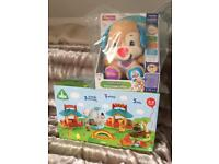 ELC Happyland Zoo and Laugh n Learn Smart Puppy brand new